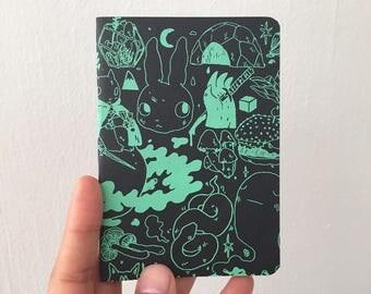 Green on Black Blank Books