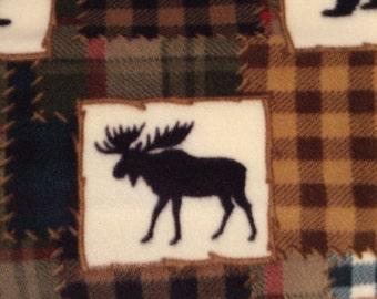 Fleece Patchwork Wildlife Blanket