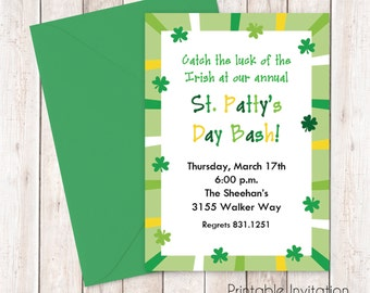 Jpeg invitation etsy st patricks day jpeg invitation printable invitation design custom wording jpeg file stopboris Image collections