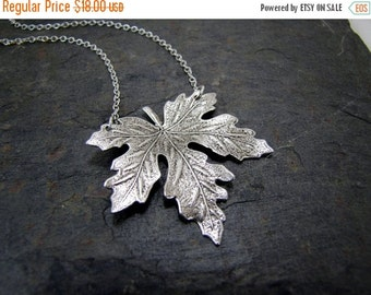 SALE Maple Leaf Necklace