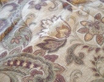 "Paisley Decorator Fabric - Rustic Earth Tones - 27"" x 52"""