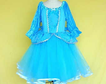 CINDERELLA  dress, Cinderella costume, winter Cinderella costume,  Princess dress with  TUTU dress