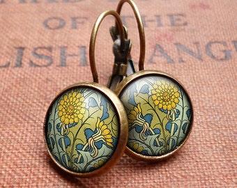 Dandelion Leverback Earrings (AN04)