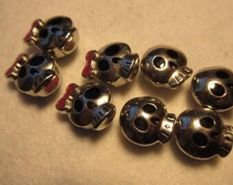 Skull beads, girls and boys, girl skulls, boy skulls, charms,