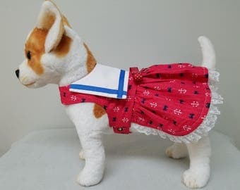 Dog Clothes Sailor Dress, Chihuahua, Yorkie