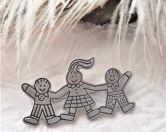 Vintage Mexico .925 Sterling Silver EFS Save the Children Brooch/Pin