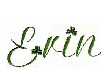 SHAMROCK FONT Machine embroidery Designs