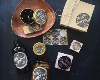 NEW Pigeon Package >> WORKSHOP << 2 stamps + 1 ink >> a custom hand-carved rubber stamp set for your business