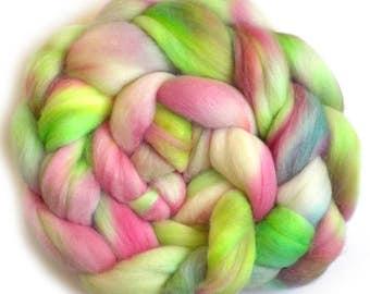 Superfine Merino Cashmere Silk Roving Custom Blend, Rosebud