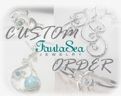 CUSTOM Listing - Reserved Listing for Pattie - Seascape Blue Mystic Topaz Bezel Pendant 8mm Round - Pendant only