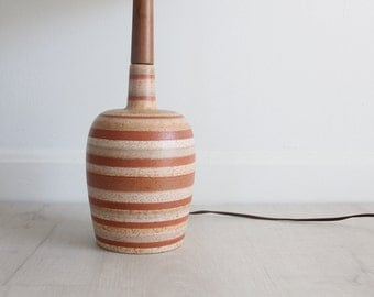 Pottery & Teak  Table Lamp