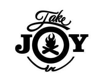 Take Joy In Campfire Decal