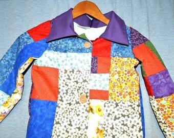 Custom made Dolly Parton's Coat of Many Colors Replica child size coat