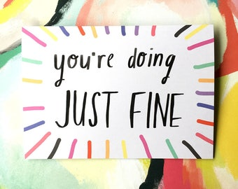You're doing JUST FINE card cc225