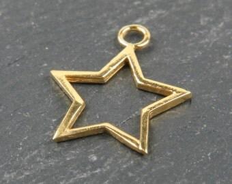 Gold Vermeil Star Pendant 18mm (CG9062)