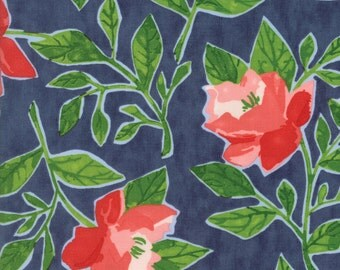 Hazelwood Fabric // Navy Peonies // 1canoe2 // cotton quilting