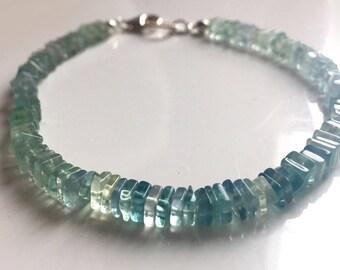 Fluorite Heishi Bracelet