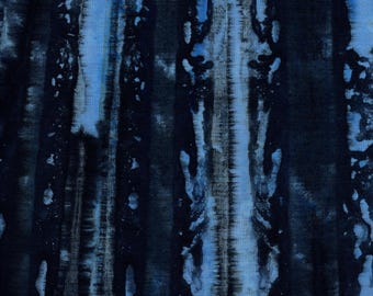 RJR Blossom Batiks 3138 5 Dark Blue Stripes By The Yard