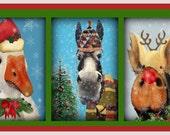 Animal Selfie Christmas Giclee Prints & Postcards
