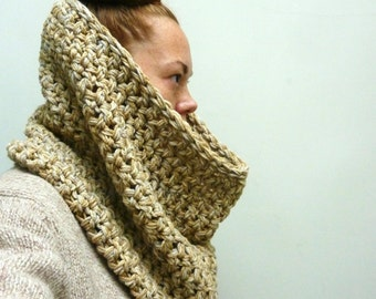 WINTER SCARF SALE Mixed Grains// Earthy Cowl Scarf/Shawl. Super Soft. One of a Kind. Ready to ship. Vegan