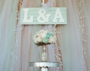 Mint Wedding Bouquet - sola flowers - choose colors -Custom - Alternative bridal bouquet - bridesmaids bouquet