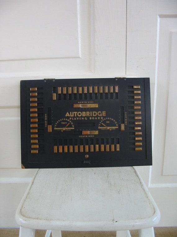 Vintage autobridge playing board bridge card game vintage for Charity motors bridge card