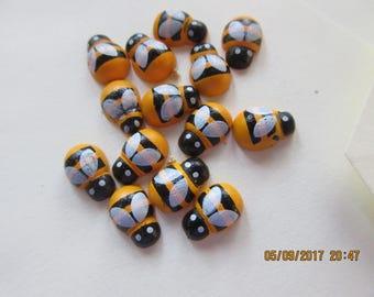 Wooden Bees,  Teeny Tiny Bees,   20 Bee  Embellishments,