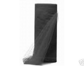 """108"""" x 50 yd  Bolt of Top Quality Made In The USA Tulle Bolt -- BLACK"""