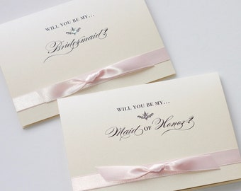 Will you be my Bridemaid Card - Bridal Party Card - Wedding Card - Greeting Card - Bridal Gift - Colors can be customized