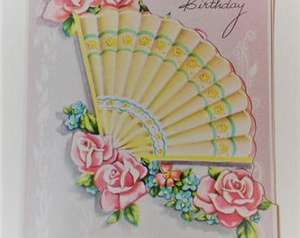 Vintage Happy Birthday NOS 1940s Greeting Card New Old Stock with Envelope