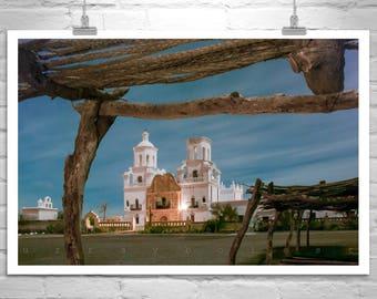 Tucson, San Xavier, Spanish Mission, Church Art, Night Photography, Southwest Architecture, Church Architecture, Tucson Picture