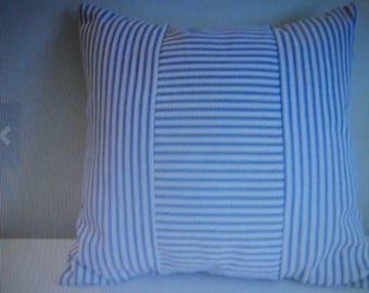 Pillow cover, French Country Ticking, most sizes, Waverly navy n white stripes, Other colors available.        .
