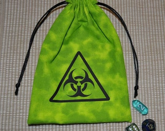 Dungeons and Dragons BIOHAZARD game dice bag