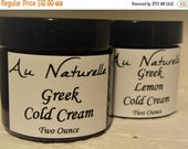 SPRING SALE Organic Greek Cold Cream  Two Ounces    -  Normal To Dry Skin Types  -  New Rose Scented  -  Natural SkinCare  -  Natural Skin C