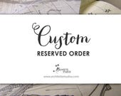 Reserved Order for JL