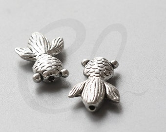 8pcs Oxidized Silver Tone Base Metal Spacers-Goldfish 23x17mm (8073Y-D-199AB)