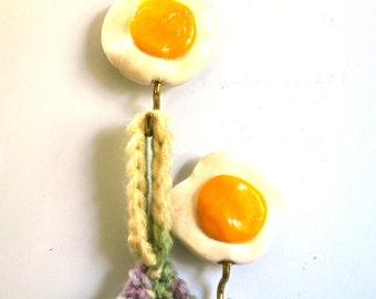 Fridge Magnets, Refrigerator Magnet, Magnet Set, Fried Egg Potholder Magnets, Kitchen Magnets, Kitchen Decor, Strong Magnet
