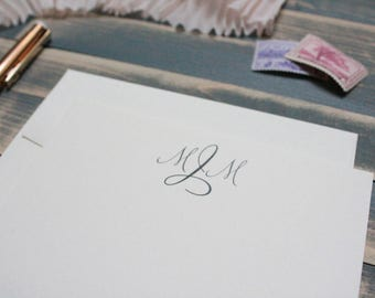 Simple Monogram Custom Personal Stationary Set | Stationery Gift | Mary