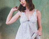 ON SALE Cotton Paisley Babydoll & Panty set - Lingerie, underwear, sleepwear, nightgown, pyjama, plus size, organic, maternity, sexy, christ