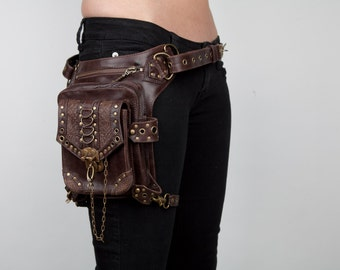 BLASTER 3.0 Brown Leather Holster Shoulder and Hip Bag Fanny Pack