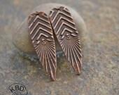 Handmade Copper Chevron Shard Component pair