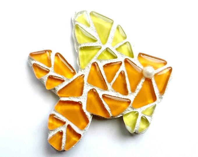 Goldfish Magnet, Mosaic Gold Fish Magnet, Orange Yellow Gold Fish Magnet, Mosaic Goldfish, Fish Magnet,