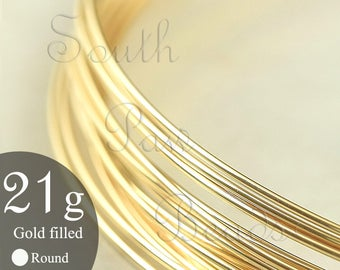 1/4 troy oz 14K Gold Filled Wire 21 gauge 14/20 Yellow gold filled round wire  approximately 7 feet You Pick the Temper