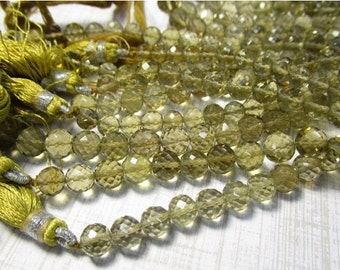 25% Off Sale AAA Natural Champagne Quartz Round Beads, Your Choice 6mm 7mm Oro Verde Gemstone, Video On Facebook
