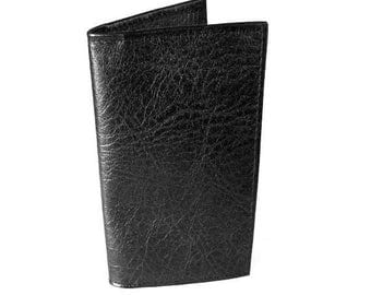 Black Leather Checkbook Cover