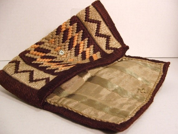 needlepoint and cloth lining