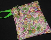 Floral Print LEATHER Zip Wallet/Coin Purse