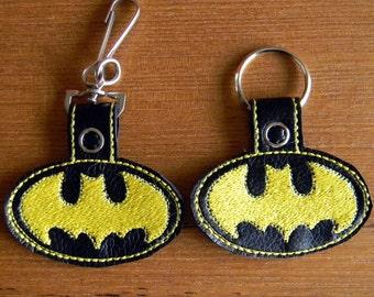 Batman Key Chain Fob, Purse or Backpack Charm