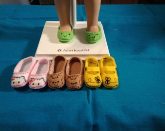 American Girl Wellie Wisher Inspired Doll Shoes/14.5 inch Doll Shoes/4 Pairs