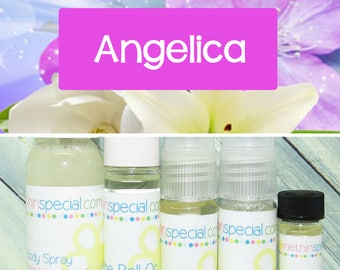 Angelica Perfume, Perfume Spray, Body Spray, Perfume Roll On, Perfume Sample Oil, Dry Oil Spray, Dry Oil Mist, 5 Different Product Choices